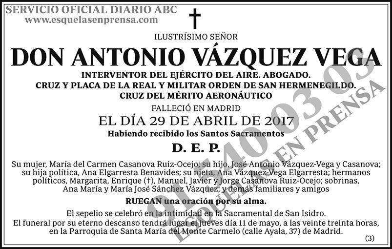 Antonio Vázquez Vega